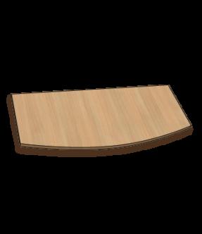 Bureaublad met een convexe voorkant