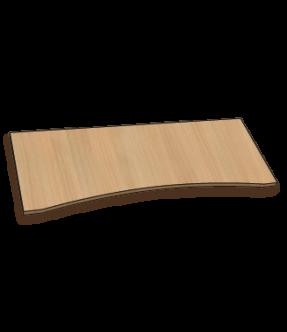 Bureaublad met een concave voorkant