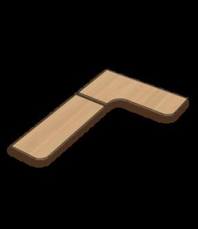 Bureau links met ronde binnenhoek